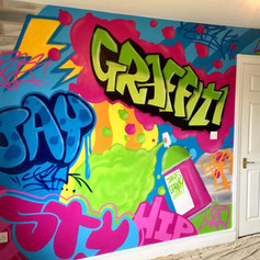 Graffiti Interior Hand Painted Mural