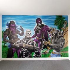 Fortnite Interior Hand Painted Mural