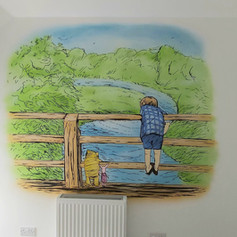Winne the Pooh Interior Hand Painted Mural