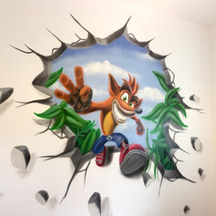 Crash Bandit Interior Hand Painted Mural
