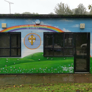 Primary School Exterior Hand Painted Mural