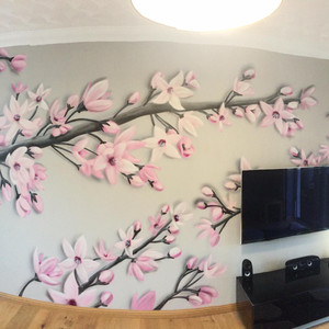 Blossom Braches Interior Hand Painted Mural