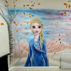 Frozen Elsa Interior Hand Painted Mural