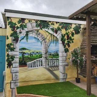 3D Walk Way Exterior Hand Painted Mural