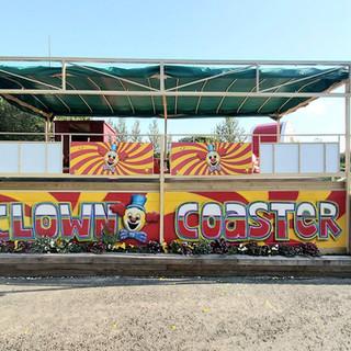 Camel Creek Roller Coaster Exterior Hand Painted Mural