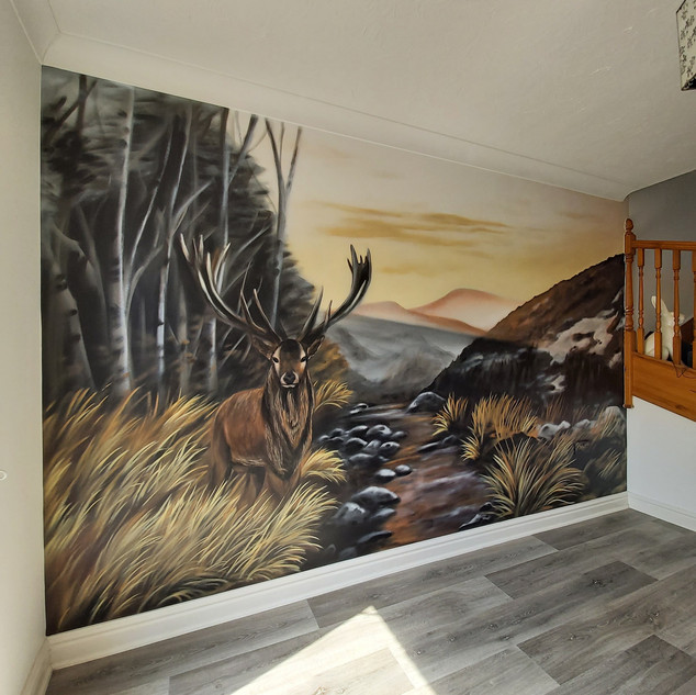 Woodland Stag Interior Wall Mural