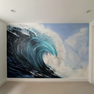 Wave Interior Hand Painted Mural