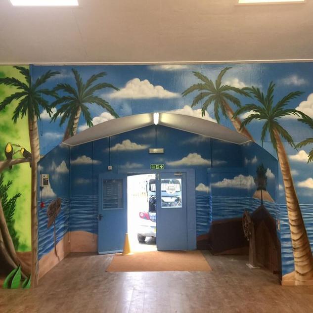 Treasure Island Restraunt Interior Hand Painted Mural