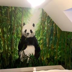 Jungle Panda Interior Hand Painted Mural