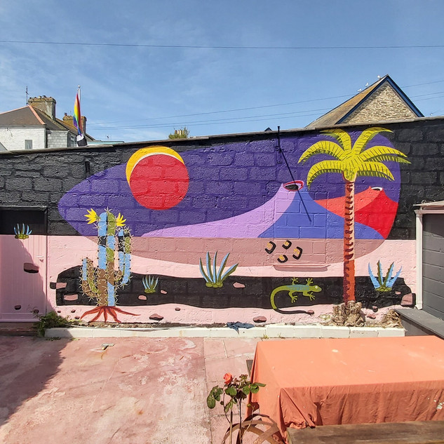Tenerife Style Exterior Hand Painted Mural