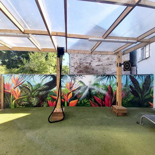 Jungle Gym exterior Hand Painted Mural