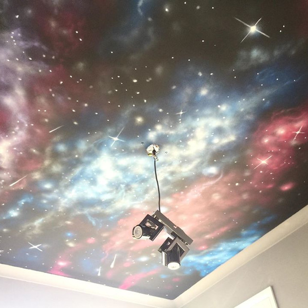 Galaxy Ceiling Interior Hand Painted Mural