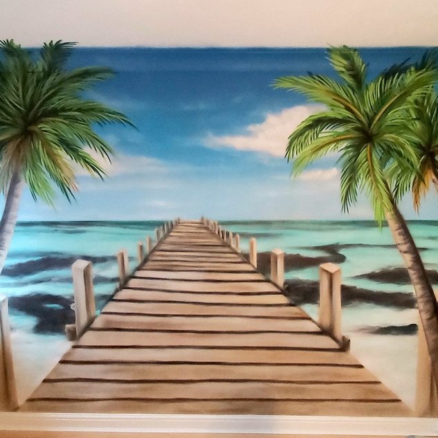 Paradise Interior Hand Painted Mural