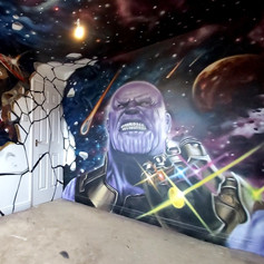 Marvel Mash Up Interior Hand Painted Mural