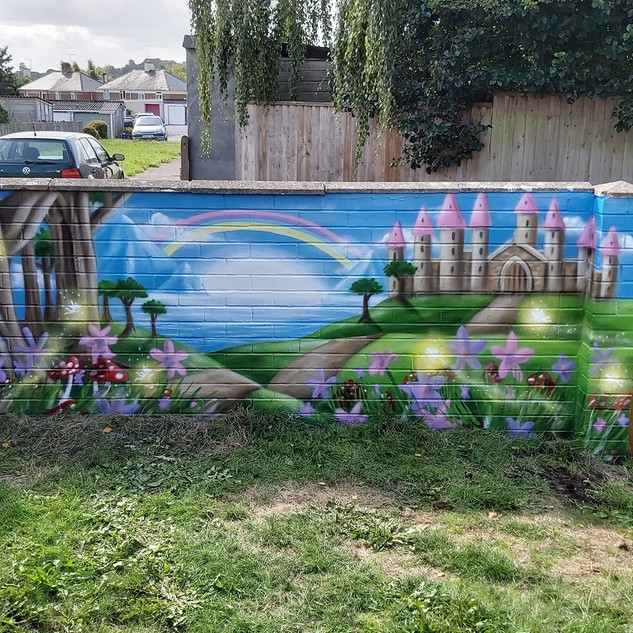Fairy World Exterior Hand Painted Mural