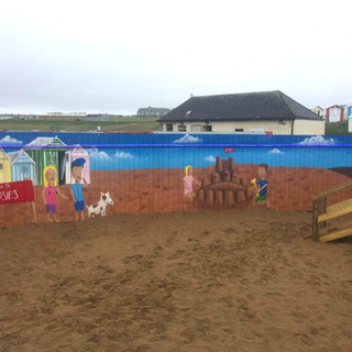 Rosies Kitchen Play Park Exterior Hand Painted Mural