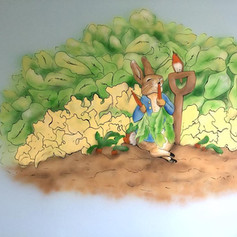 Peter Rabbit Interior Hand Painted Mural