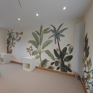 Leaves Interior Hand Painted Mural