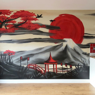 Rugby World Cup Inspired Interior Hand Painted Mural