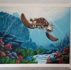 Finding Nemo Interior Hand Painted Mural