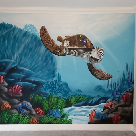 Finding Nemo Interior Hand Painted Mural