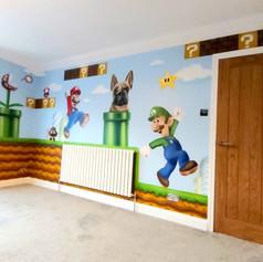 Super Mario Interior Hand Painted Mural