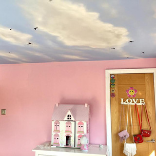 Sky and Clouds Ceiling Interior Hand Painted Mural