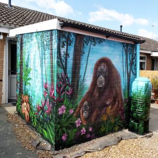 Orangutan Exterior Hand Painted Mural