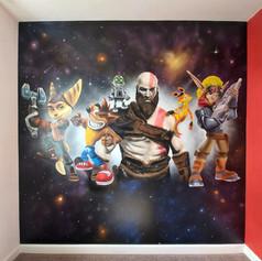Gaming Interior Hand Painted Mural