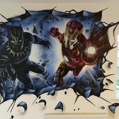 Marvel Interior Hand Painted Mural
