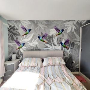 Hummingbird Interior Hand Painted Mural