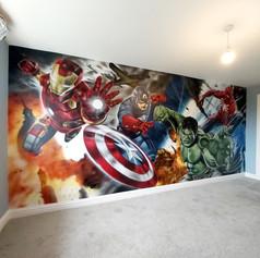 Superhero Interior Hand Painted Mural