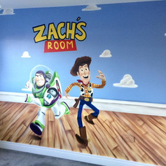 Toy Story Interior Hand Painted Mural