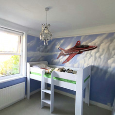 Red Arrows Interior Hand Painted Mural