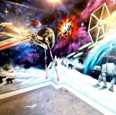 Star Wars Interior Hand Painted Mural