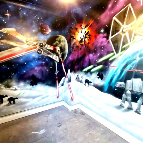 Star Wars Interior Hand Painted Mural