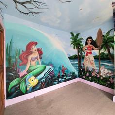 Moana and Little Mermaid Interior Wall Mural
