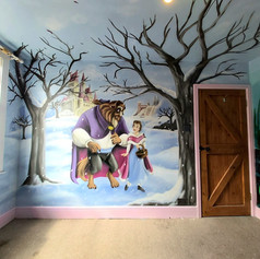 Beauty and the Beast Interior Wall Mural