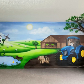 Children Play Area Interior Hand Painted Mural
