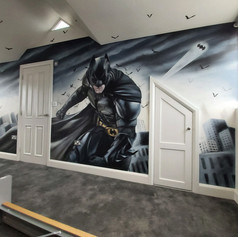 Batman Superhero Interior Hand Painted Mural