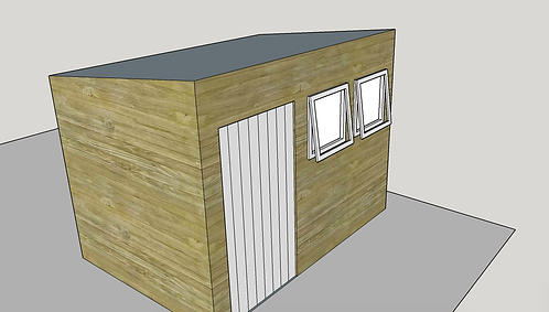 ALBION Pent Shed L2 (opening-windows)