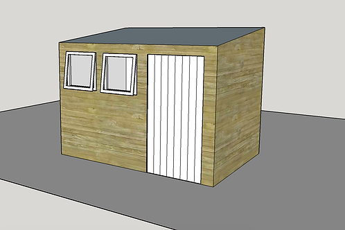 ALBION Pent Shed R2.1 (opening-windows)