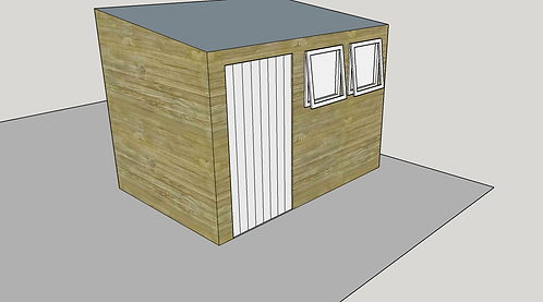 ALBION Pent Shed L2.1 (opening-windows)