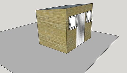 ALBION Pent Shed C (opening-windows)