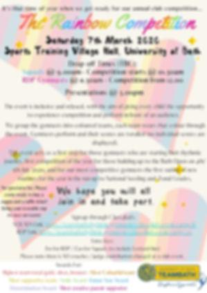 Team Bath Rainbow Competition 2020 Poste
