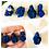 Thumbnail: Natural Rough Azurite Pendant Set in Solid Silver