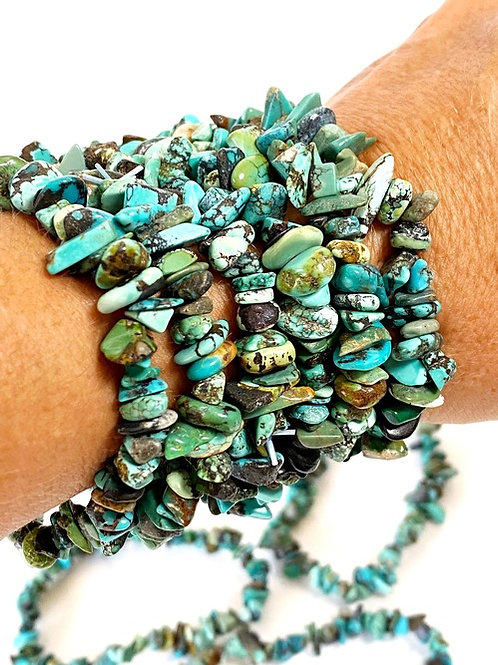 Turquoise Natural Stone Chips Bracelet