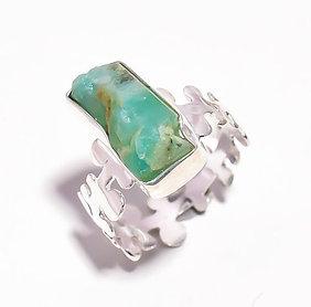 Authentic Uncut Rough Emerald Ring 100% Natural Size 9