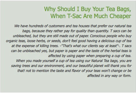 why buy natural tea bags