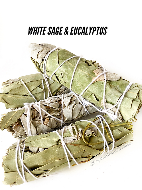 White Sage Eucalyptus Smudge Stick